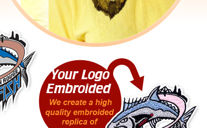 Your Logo Embroided - We create a highquality embroided replica of your logo