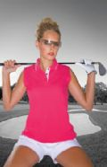 Sports sleeveless polo shirt
