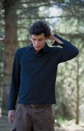 Long sleeve modern essential polo