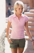 Lady-fit rib polo